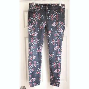 Rue 21 Floral Denim Jeans, Size 9/10 Regular Rise